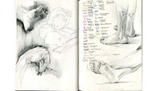 Midi Sketchbook, Nov 2011 - Jan 2012
